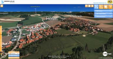 WEA Pfettrach Perspektive Vogelperspektive Höfen - (c) 2018 Thorsten Baumheinrich